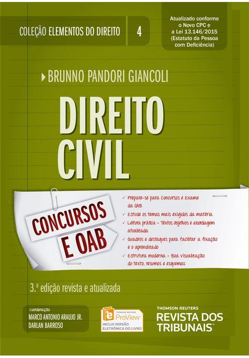 Coleção Elementos do Direito Volume 04 - Direito Civil - 3ª Edição