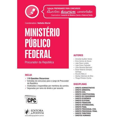 Coleção Preparando para Concursos - Provas Discursivas Comentadas - Ministério Público Federal
