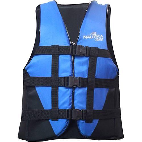 Colete C/ Trava Lock Coast 80kg - Náutika Azul/preto