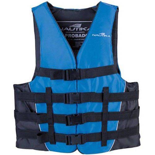 Colete Coast C/ Capacidade P/ 40kg - Azul C/ Lateral Preta - Nautika