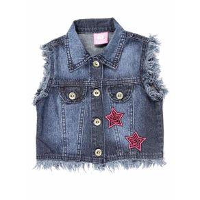 Colete Jeans Infantil para Menina - Azul 2
