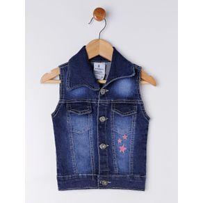 Colete Jeans Infantil para Menina - Azul 1