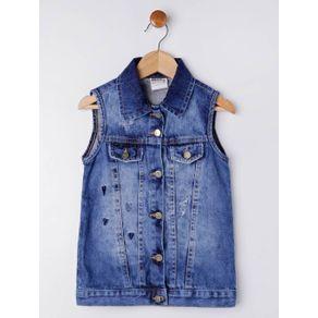 Colete Jeans Infantil para Menina - Azul 4