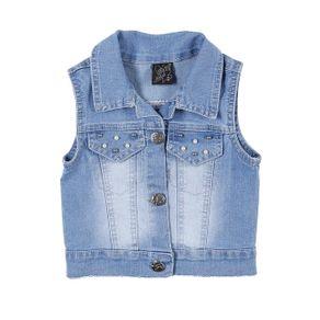 Colete Jeans Infantil para Menina - Azul 6