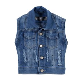 Colete Jeans Infantil para Menina - Azul 8