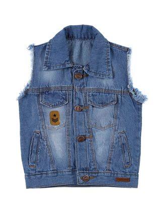 Colete Jeans Infantil para Menino - Azul