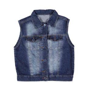 Colete Jeans Juvenil para Menino - Azul 12