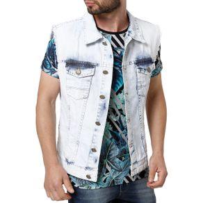 Colete Jeans Masculino Mokkai Azul G
