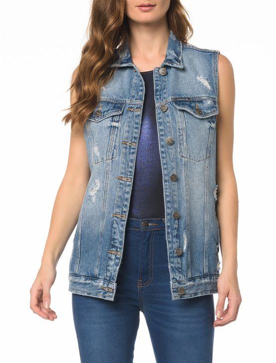 Colete Jeans Trucker - G