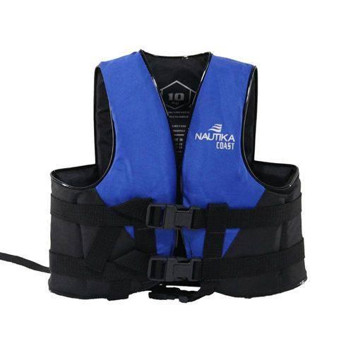 Colete Salva Vidas Ntk Coast Até 30kg Preto e Azul