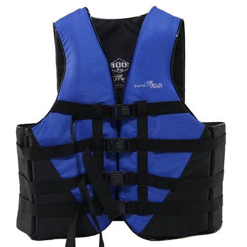Colete Salva Vidas Ntk Coast Até 130kg Preto e Azul