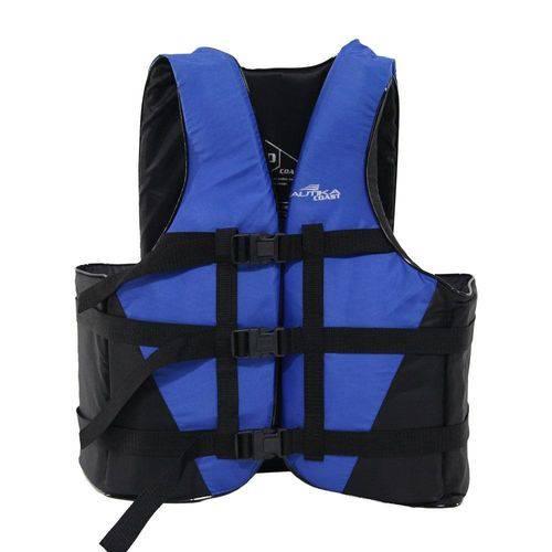 Colete Salva Vidas Ntk Coast Até 50kg Preto e Azul