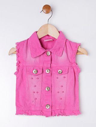 Colete Sarja Infantil para Menina - Rosa Pink