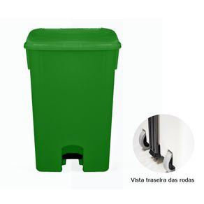 Coletor de Lixo 100L C/pedal e Rodas CP11VD Verde - Bralimpia