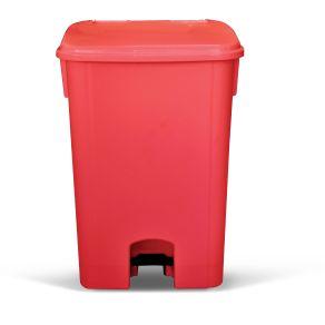 Coletor de Lixo 100L C/ Pedal Sem Rodas CP10VM Vermelho - Bralimpia