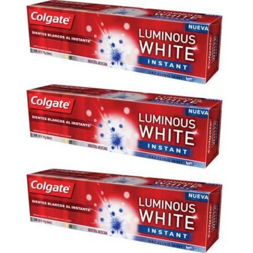 Colgate Luminous Instant White Creme Dental 70g (kit C/03)