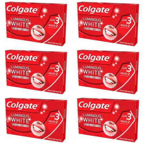 Colgate Luminous White Creme Dental 3x70g (kit C/06)