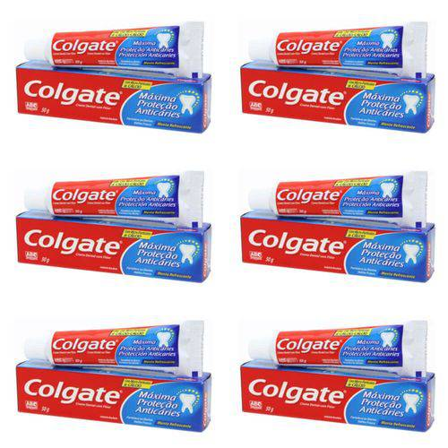 Colgate Máxima Proteção Anticáries Creme Dental 50g (kit C/06)