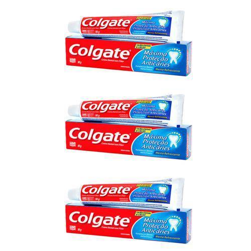 Colgate Mpa Caries Menta Refrescante Creme Dental 90g (kit C/03)