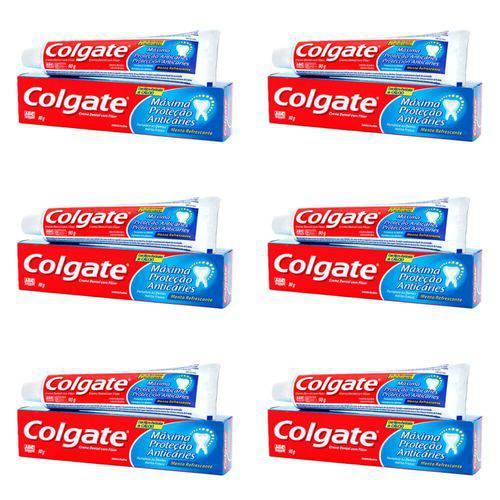Colgate Mpa Caries Menta Refrescante Creme Dental 90g (kit C/06)