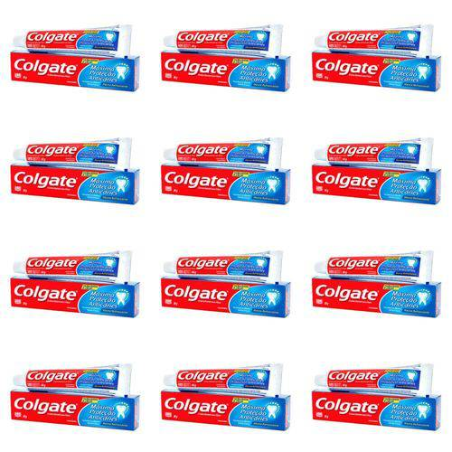 Colgate Mpa Caries Menta Refrescante Creme Dental 90g (kit C/12)