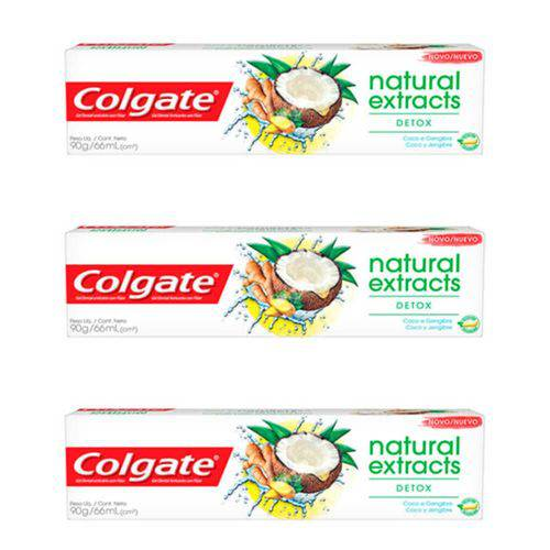 Colgate Naturals Detox Creme Dental 90g (kit C/03)