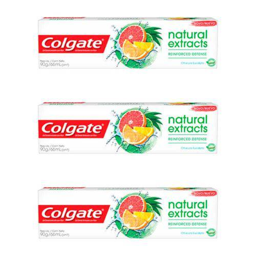 Colgate Naturals Extracts Creme Dental 90g (kit C/03)