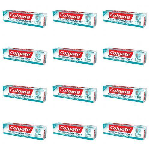 Colgate Sensitive Pro Alivio Creme Dental Repara Esmalte 110g (kit C/12)