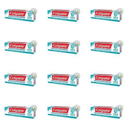 Colgate Sensitive Pro Alivio Creme Dental Repara Esmalte 50g (kit C/12)