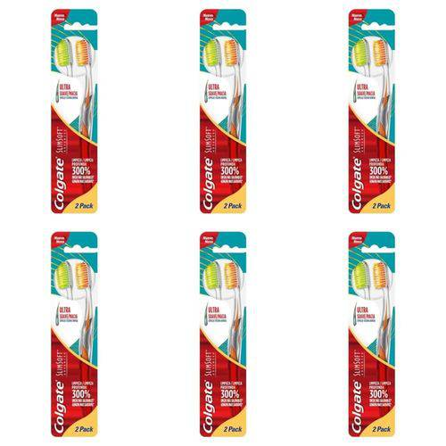 Colgate Slim Soft Advance Escova Dental C/2 (kit C/06)