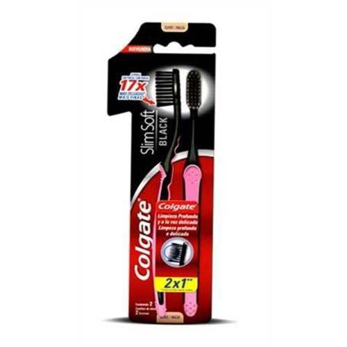 Colgate Slim Soft Black Escova Dental C/2