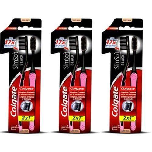 Colgate Slim Soft Black Escova Dental C/2 (kit C/03)