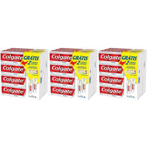 Colgate Total 12 Clean Mint Creme Dental 12x90g (kit C/03)