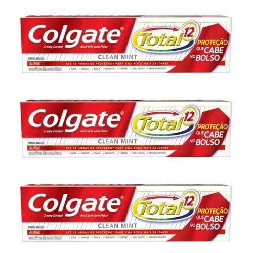 Colgate Total 12 Clean Mint Creme Dental 50g (kit C/03)
