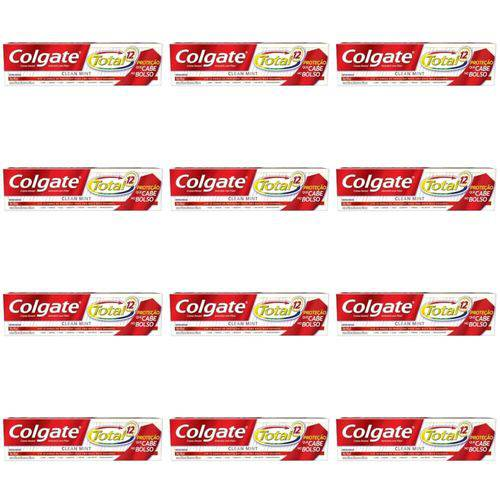 Colgate Total 12 Clean Mint Creme Dental 50g (kit C/12)