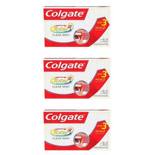 Colgate Total 12 Clean Mint Creme Dental 3x70g (kit C/03)