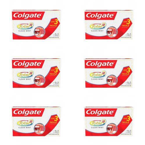 Colgate Total 12 Clean Mint Creme Dental 3x70g (kit C/06)