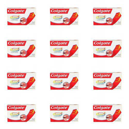 Colgate Total 12 Clean Mint Creme Dental 3x70g (kit C/12)