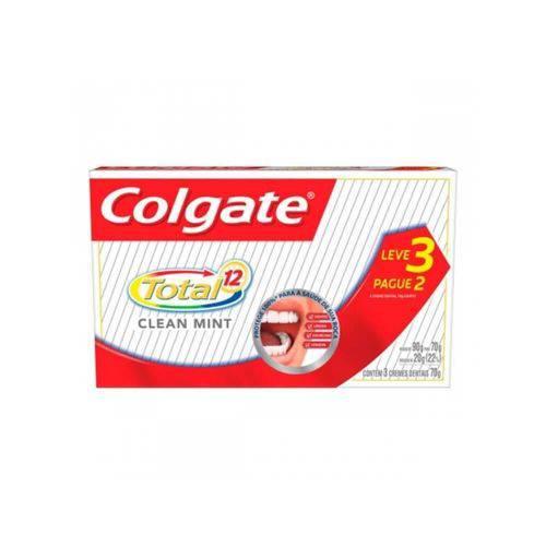 Colgate Total 12 Clean Mint Creme Dental 3x70g