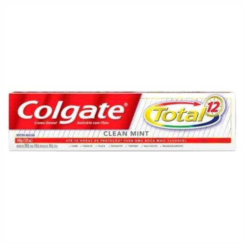 Colgate Total 12 Creme Dental Clean Mint 140g