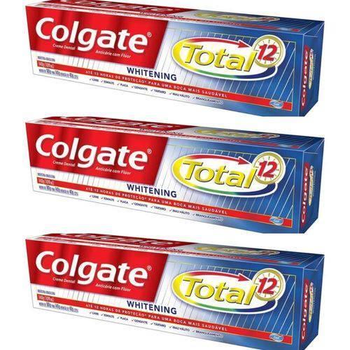 Colgate Total 12 Creme Dental Whitening 140g (kit C/03)