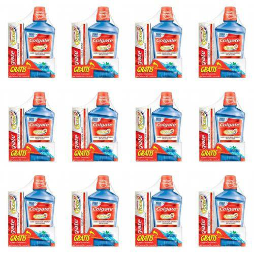 Colgate Total 12 Enxaguante Bucal 500ml + Creme Dental 90g (kit C/12)
