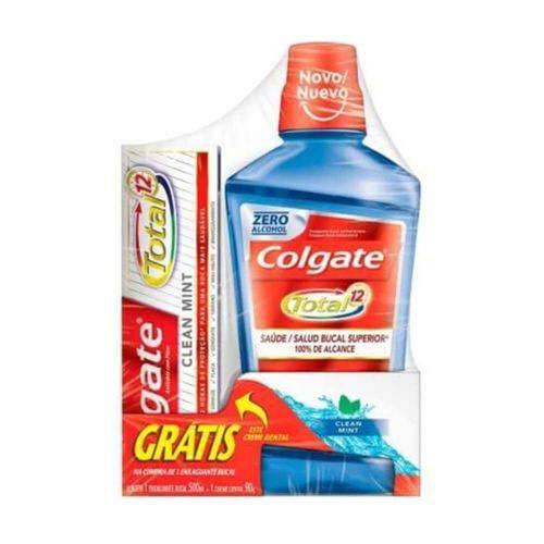 Colgate Total 12 Enxaguante Bucal 500ml + Creme Dental 90g