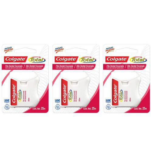Colgate Total 12 Fio Dental 25m (kit C/03)