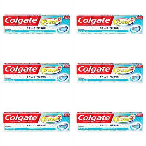 Colgate Total 12 Saúde Visível Creme Dental 133g (kit C/06)