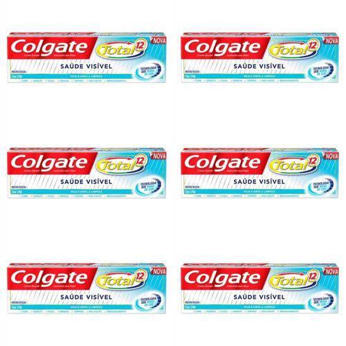 Colgate Total 12 Saúde Visível Creme Dental 70g (kit C/06)