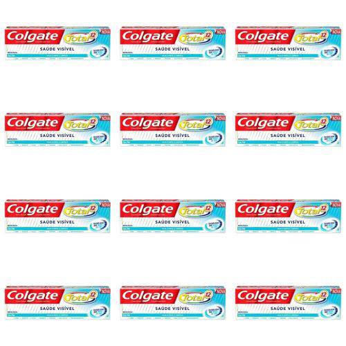 Colgate Total 12 Saúde Visível Creme Dental 70g (kit C/12)
