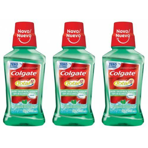 Colgate Total Hálito Saudável Enxaguante Bucal 250ml (kit C/03)