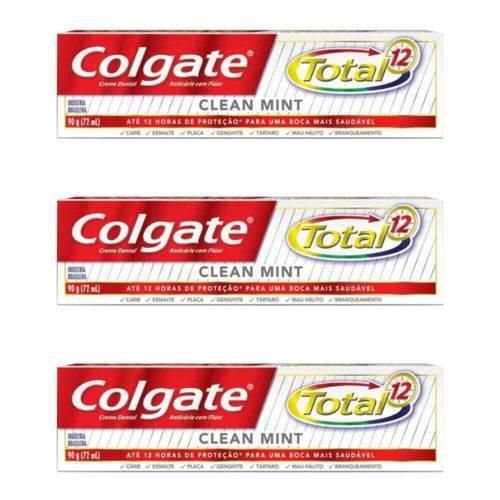 Colgate Total12 Clean Mint Creme Dental 90g (kit C/03)