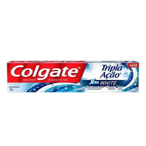 Colgate Tripla Ação Creme Dental Xtra White 70g